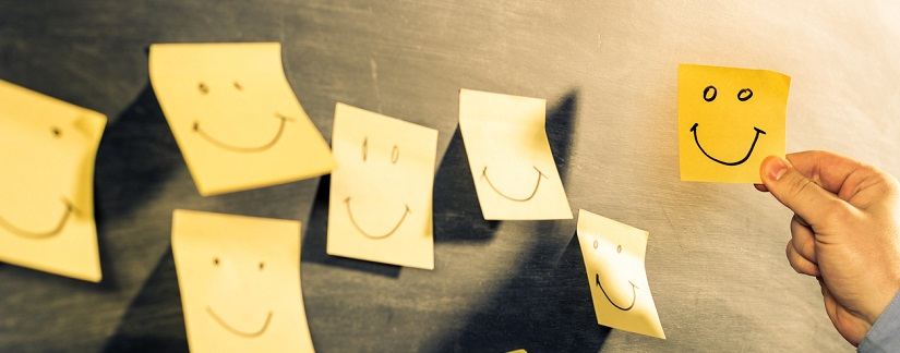 Post it de satisfaction client