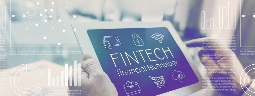 mention fintech sur tablette