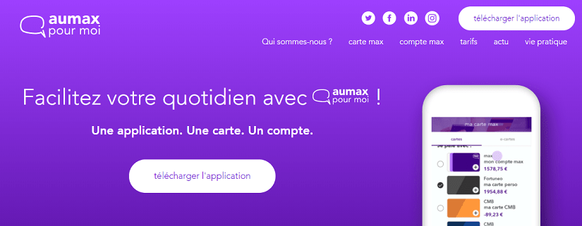 capture écran du site Aumax