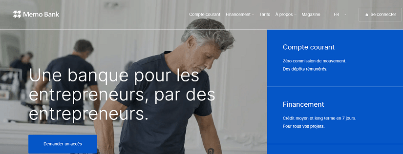 capture ecran du site Memo Bank