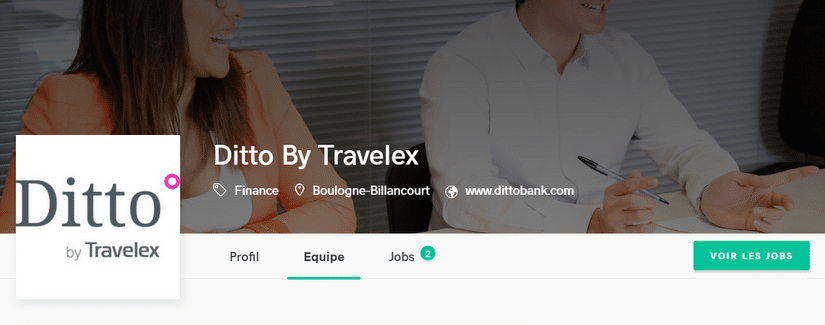 Capture du site Ditto par Travelex