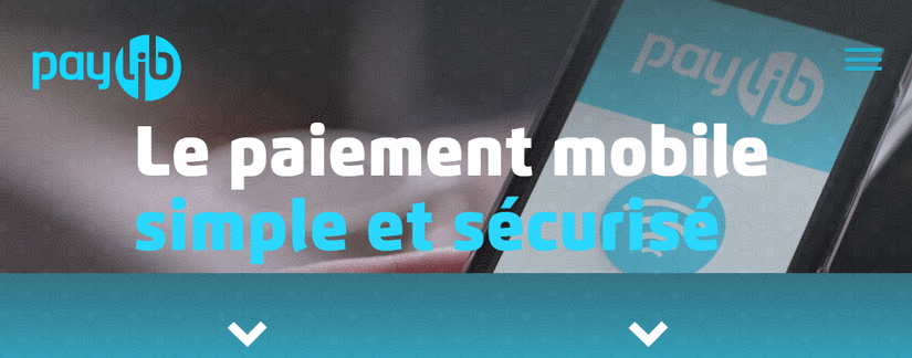 Capture du site Paylib