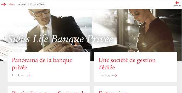 Capture du site de Swiss Banque Privée