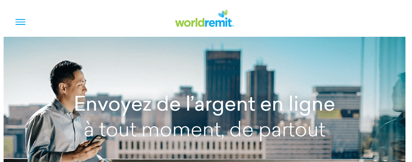 Capture du site WorldRemit