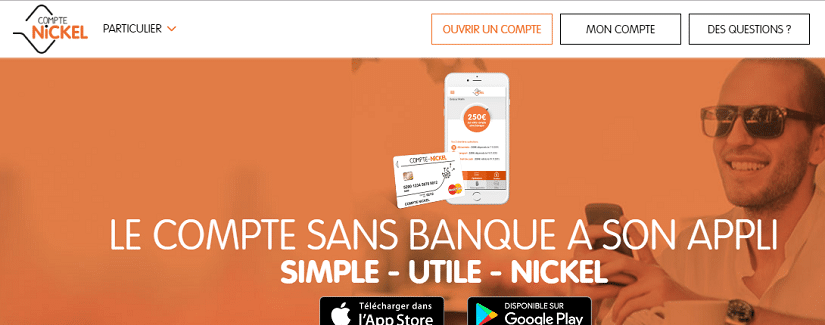 Capture du site Compte Nickel