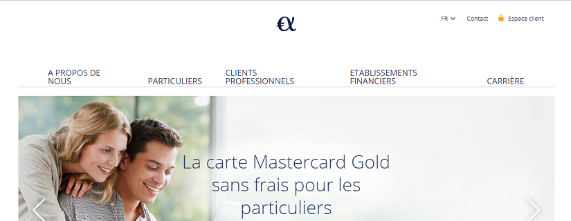 capture ecran du site d'Advanzia Bank