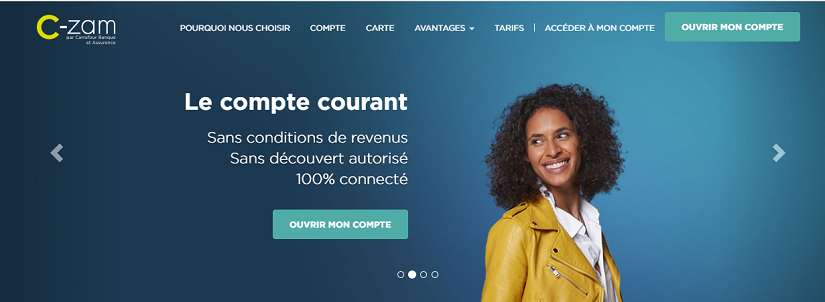 capture ecran du site C-zam