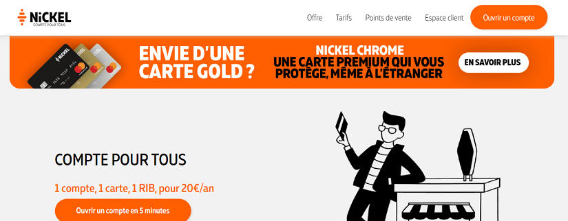 capture écran du site Nickel