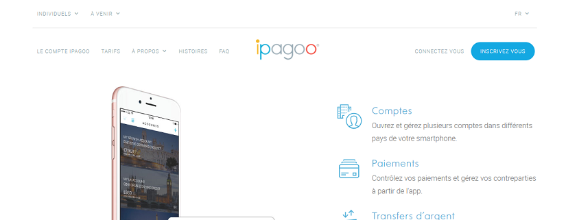 capture ecran du site Ipagoo