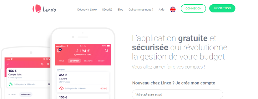 CAPTURE ECRAN DU SITE Linxo