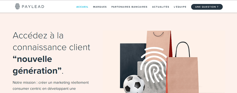 capture ecran du site PayLead
