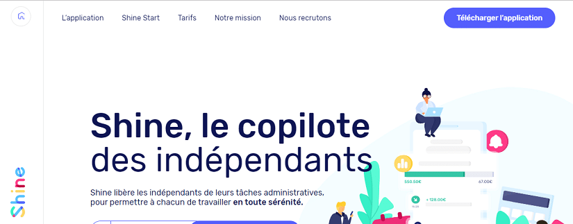 Capture écran du site fintech Shine