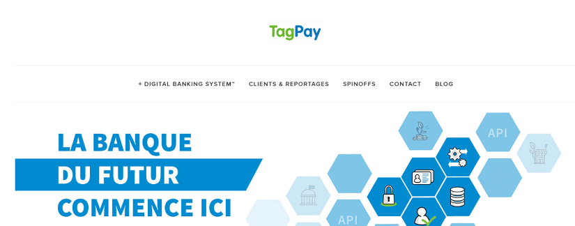 capture ecran du site TagPay