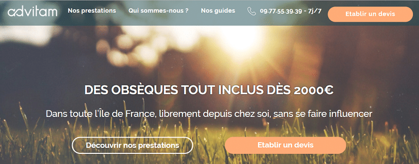 Capture du site AdVitam
