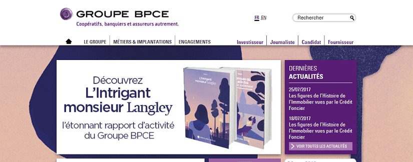 capture écran du site bpce