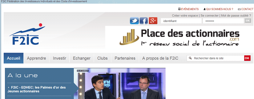 capture du site F2ic