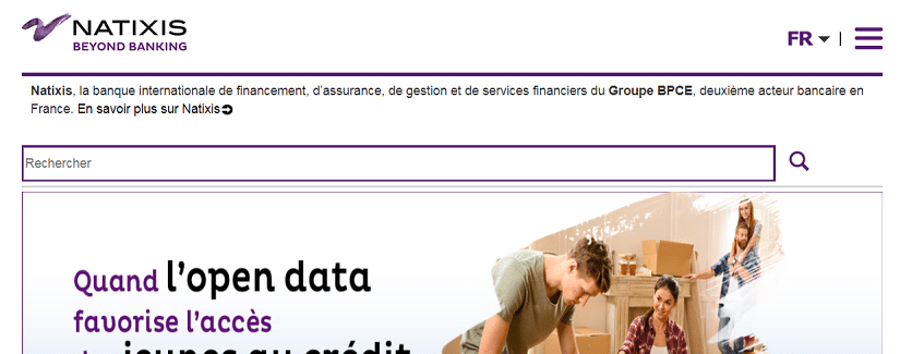 Capture du site Natixis