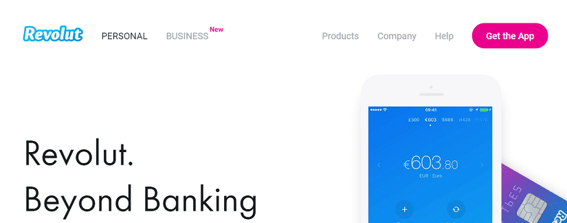 Capture du site Revolut
