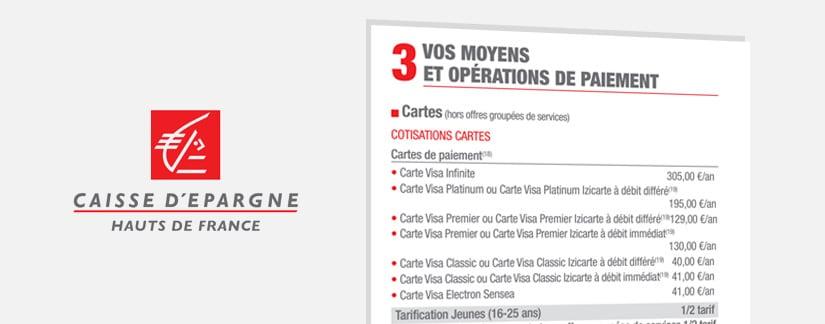 opposition carte bleue caisse d épargne Frais bancaires Janvier 2019   Frais bancaires de la Caisse d
