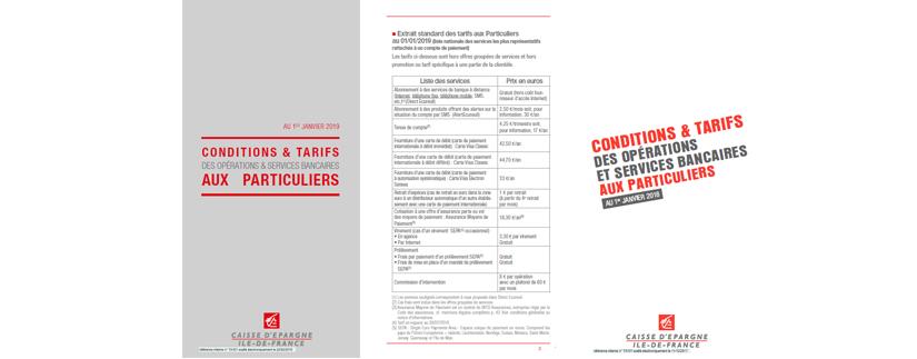 Frais Bancaires De La Caisse D Epargne Ile De France
