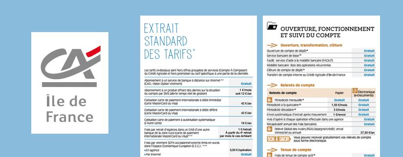 Frais Bancaires Du Credit Agricole Ile De France Meilleurebanque Com