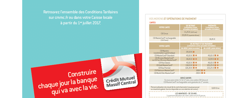 credit mutuel massif central tarif