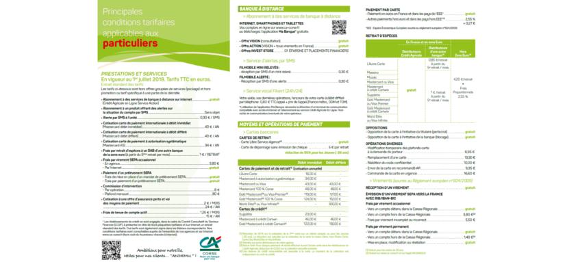 Frais Bancaires Du Credit Agricole Corse Meilleurebanque Com