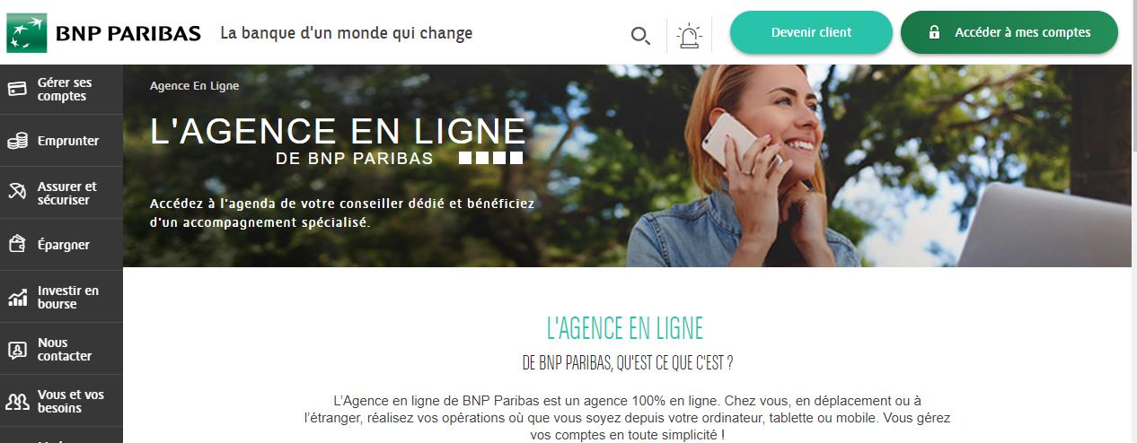 l 39 agence en ligne de la bnp paribas